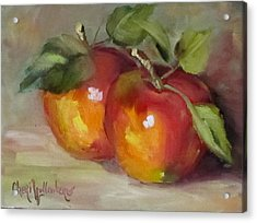 Painting Of Delicious Apples Acrylic Print by Cheri Wollenberg