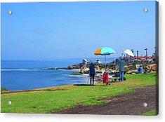 Painting The Coastline Acrylic Print