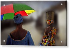 Acrylic Print featuring the photograph Painting The Streets Of Kayar by Wayne King