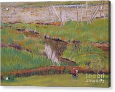Acrylic Print featuring the painting Painting The Wetlands by Terri Thompson