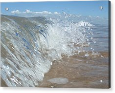 Painting With Waves Acrylic Print by Mira Cooke