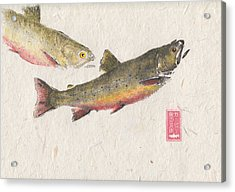 Pair Of Brook Trout #br0001 Acrylic Print