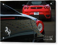 Acrylic Print featuring the photograph Pair Of Ferraris by Dennis Hedberg