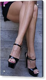 Pair Of Legs Acrylic Print by Sonja Anderson
