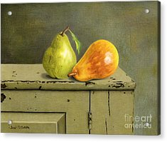 Pair Of Pears Acrylic Print by Sarah Batalka