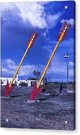 Pair Of Roadside Arrows Acrylic Print