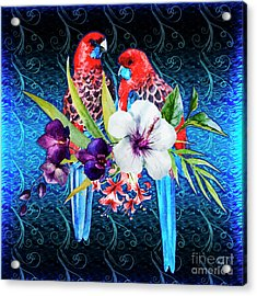 Paired Parrots Acrylic Print