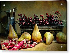 Pairs Of Pears Acrylic Print by Diana Angstadt