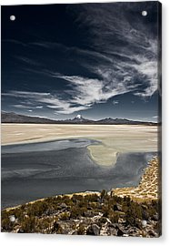 Sajama In The Distance Acrylic Print by Ron Dubin