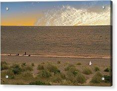 Pakefield Beach Sunset Acrylic Print by David French
