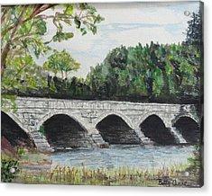 Pakenham Bridge Acrylic Print by Betty-Anne McDonald