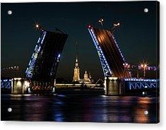 Palace Bridge At Night Acrylic Print