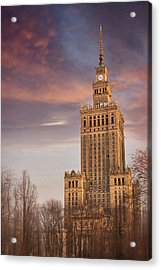 Palace Of Culture And Science Warsaw Poland  Acrylic Print