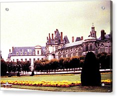 Palace Of Fontainebleau 1955 Acrylic Print by Will Borden