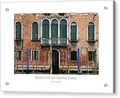 Palace On The Grand Canal Acrylic Print