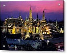 Palace Acrylic Print by Robert Bewick