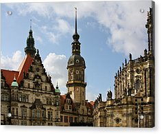 Palace Square In Dresden Acrylic Print by Christine Till