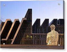 Acrylic Print featuring the photograph Palacio De Congresos Zaragoza Spain by Marek Stepan