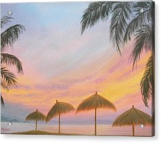 Palapa Point Acrylic Print
