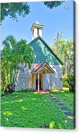 Acrylic Print featuring the photograph Palapala Ho'omau Congregational Church by Jim Thompson