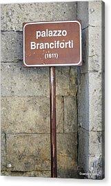 palazzo Branciforte 1611 Acrylic Print