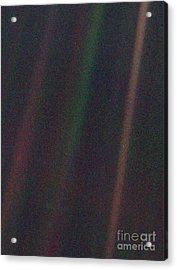 Pale Blue Dot, Voyager 1 Image Acrylic Print