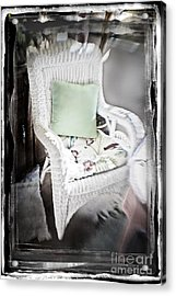 Pale Green Pillow Chair Acrylic Print