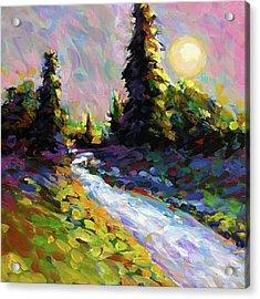 Pale Moon Rising Acrylic Print