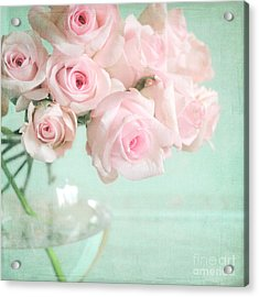 Pale Pink Roses Acrylic Print