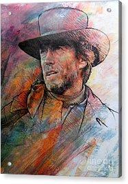 Pale Rider Acrylic Print by Rik Ward