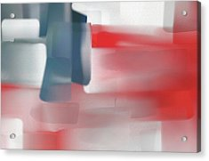 Palette Knife Abstract American Flag Acrylic Print by Dan Sproul