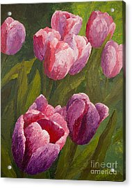 Palette Tulips Acrylic Print by Phyllis Howard