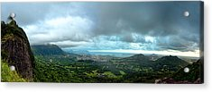 Acrylic Print featuring the photograph Pali Lookout Dawn by Dan McManus