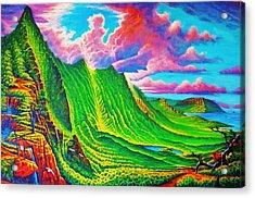 Pali Lookout Acrylic Print