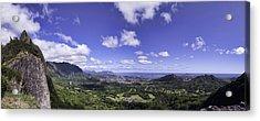 Pali Lookout Panorama Acrylic Print