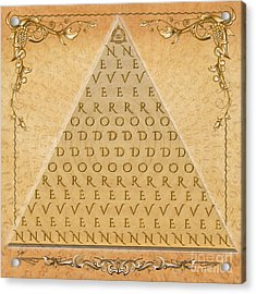 Palindrome Pyramid V1-decorative Acrylic Print by Bedros Awak