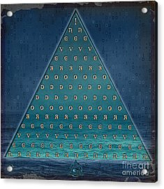 Palindrome Pyramid V1-enigmatic Acrylic Print by Bedros Awak