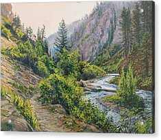 Acrylic Print featuring the painting Palisades Creek  by Steve Spencer