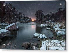 Palisades First Snow Acrylic Print