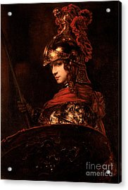 Pallas Athena  Acrylic Print by Rembrandt