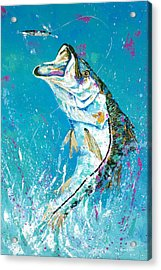 Pallet Knife Jumping Snook Acrylic Print