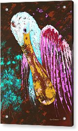 Pallet Knife Spoonbill Acrylic Print by Kevin Brant