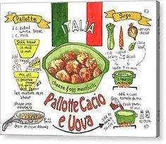 Pallotte Cacio Acrylic Print