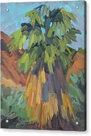 Acrylic Print featuring the painting Palm At Santa Rosa Mountains Visitors Center by Diane McClary