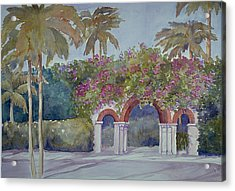 Palm Beach Gates Acrylic Print
