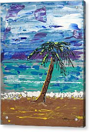 Palm Beach Acrylic Print by J R Seymour