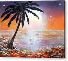 Acrylic Print featuring the painting Palm by Greg Moores