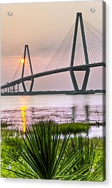 Palm Harbor Sunset - Charleston Sc Acrylic Print by Drew Castelhano
