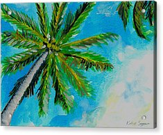 Palm In The Sky Acrylic Print