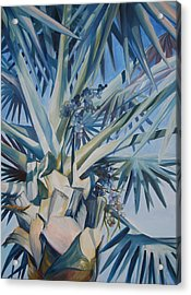 Palm Acrylic Print by Katherine  Fyall
